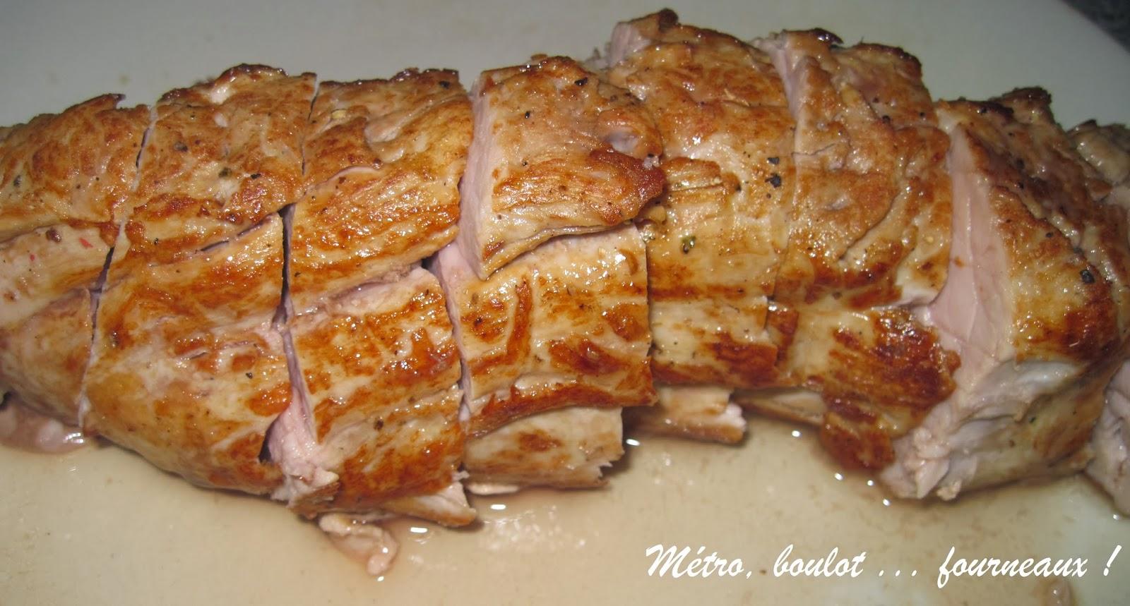Filet mignon de porc en cuisson basse temp rature et sa - Cuisiner filet mignon de porc ...