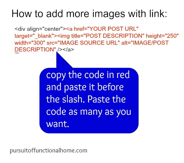 How to add more images with Link