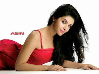 Asin Thottumkal hot photos in red dress wallpapers