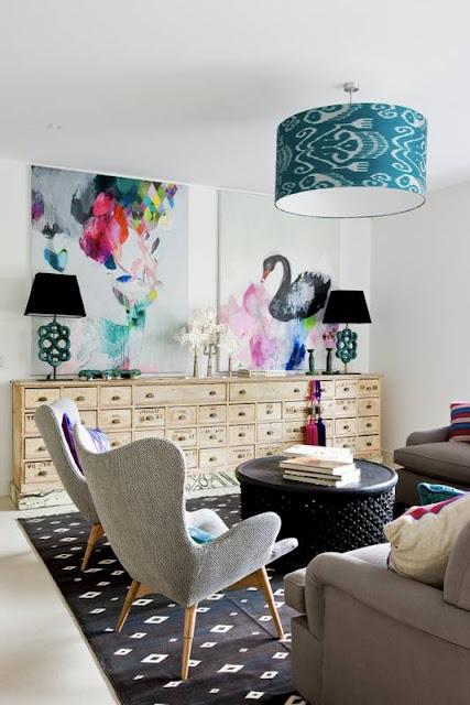 Vrolijke kleur accenten in je interieur villa d 39 esta interieur en wonen - Kleur en materialen ...