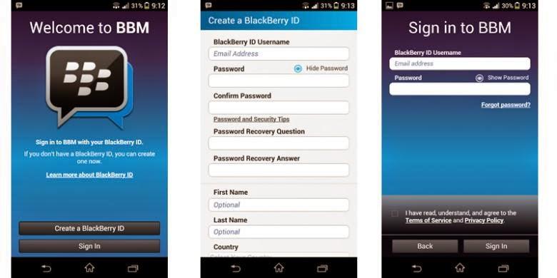 cara install aplikasi BBM untuk smartphone