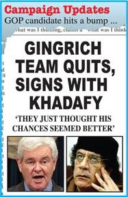 Headline - Gingrich team quits, signs with Khadafy