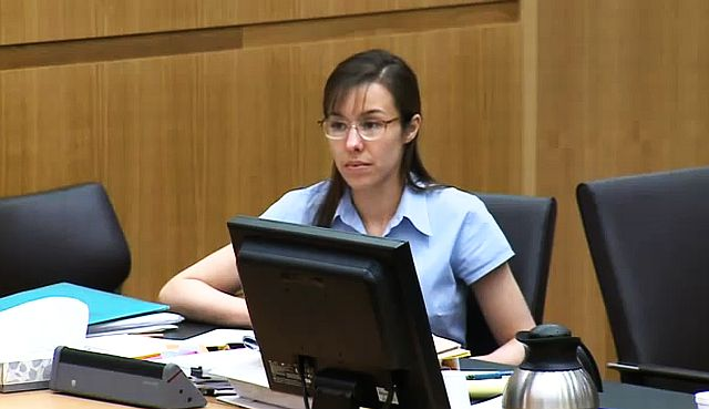 Jodi Arias appears in court on April 10, 2013