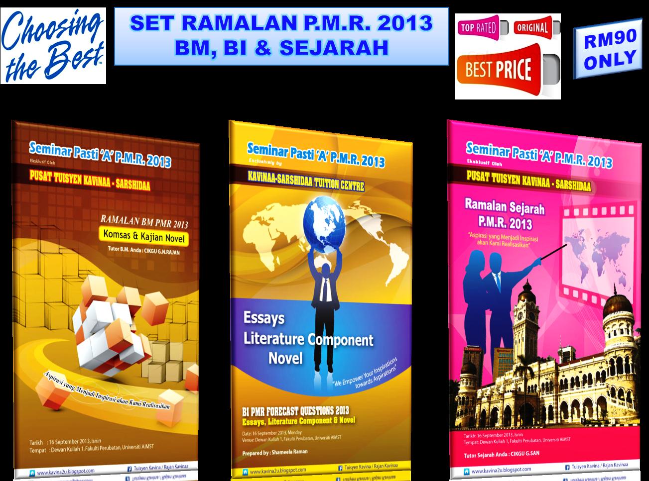 SET RAMALAN BM, BI & SEJARAH PMR 2013