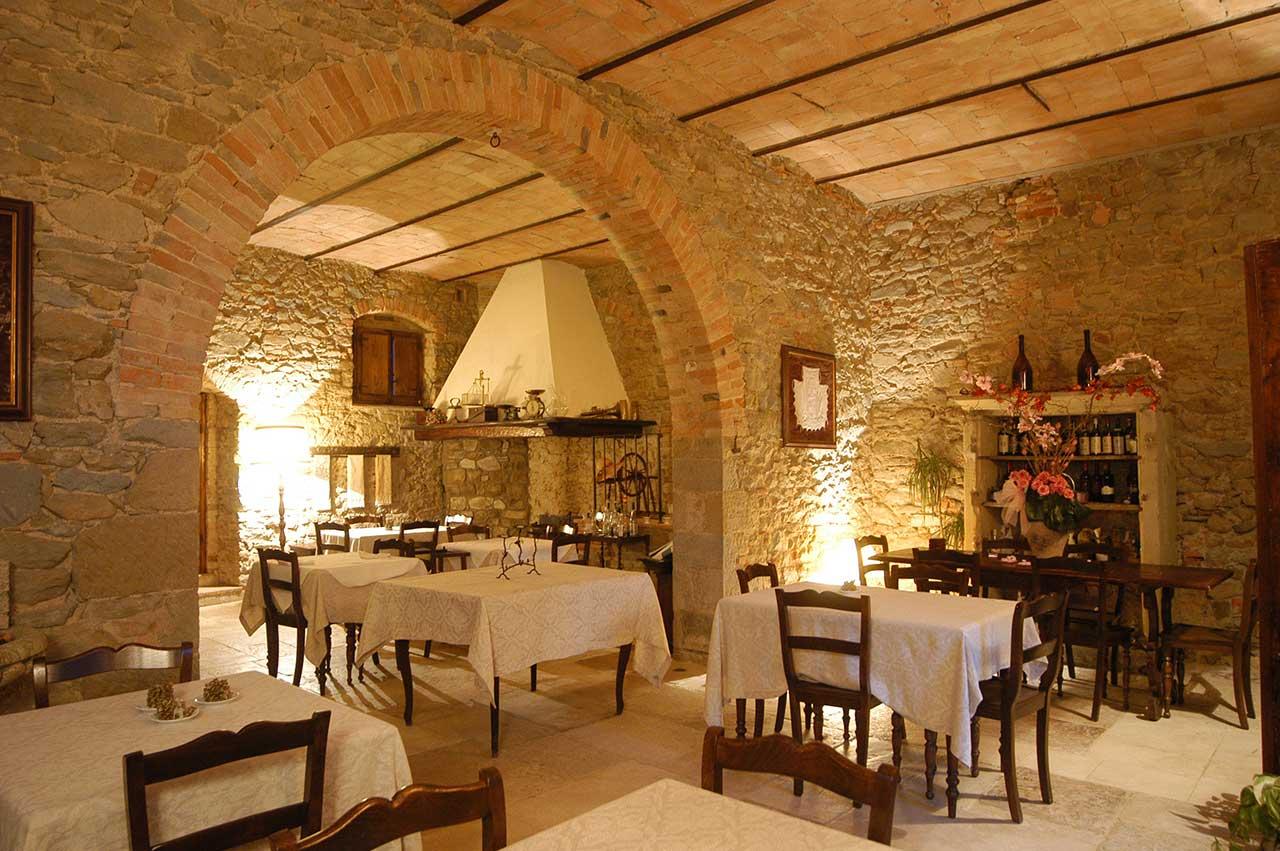 Il ristorante del nostro agriturismo in Umbria e relais romantico Il Cantico della Natura