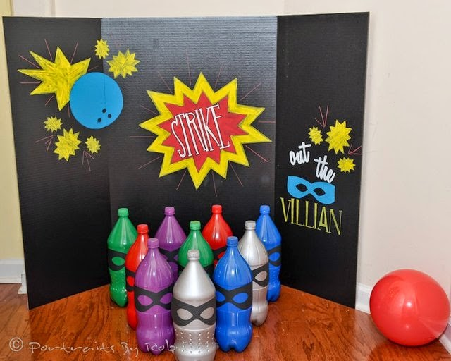 Strike out the Villians Bowling Superhero game