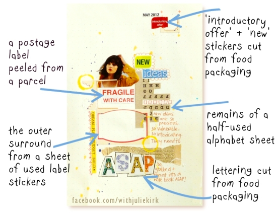 http://notesonpaper.blogspot.co.uk/2012/06/art-journaling-with-food-packaging-for.html