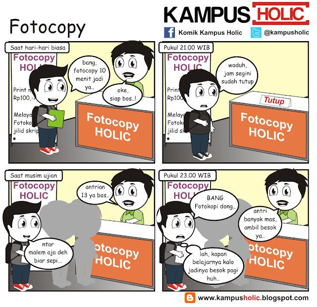 #176 Fotocopy antri panjang saat ujian, mahasiswa kampus holic