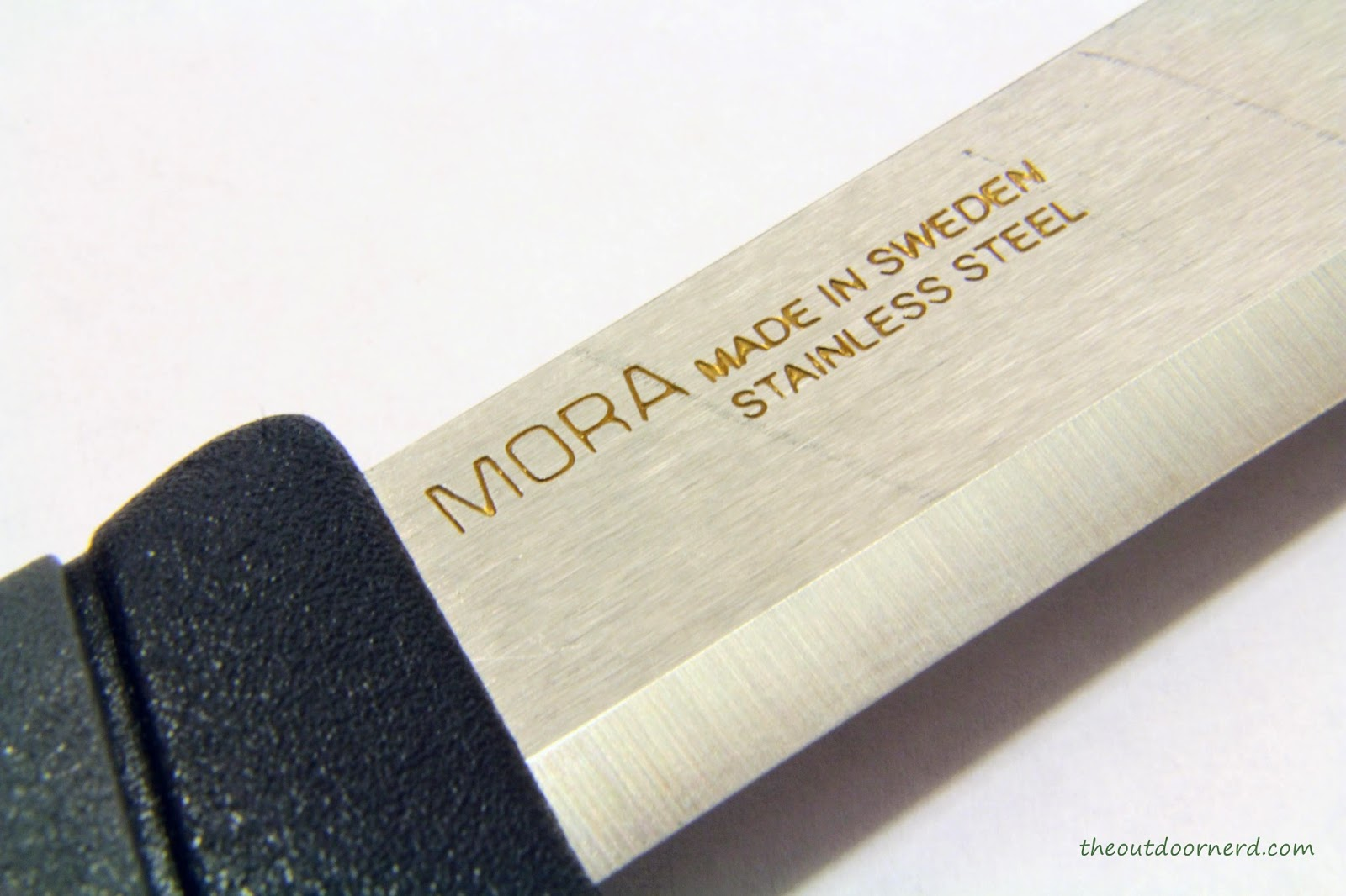 Light My Fire Swedish FireKnife: View Of Mora Logo