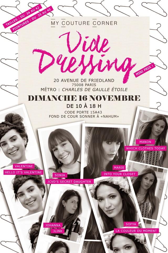 bon plan, vide dressing, événement, paris , dimanche 16 novembre