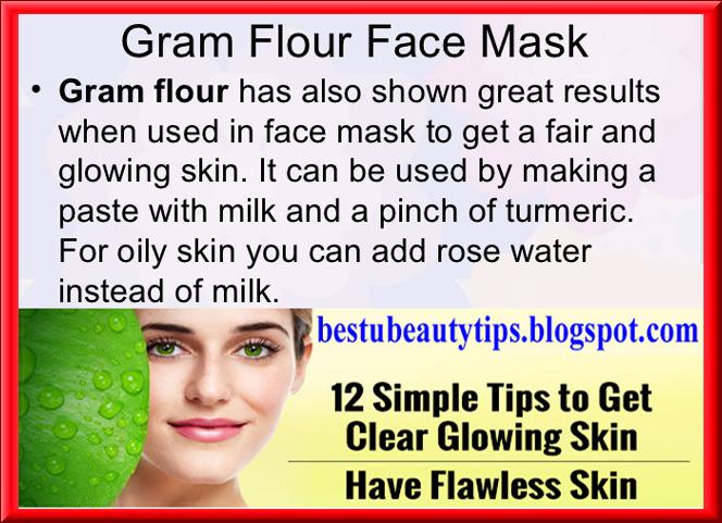 Garm Flour Face Mask Beauty Tips In English