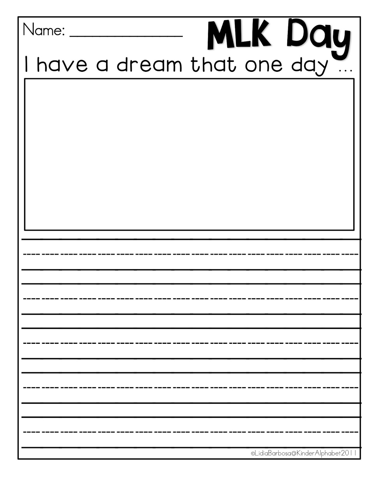I Have a Dream | Worksheet | Education.com