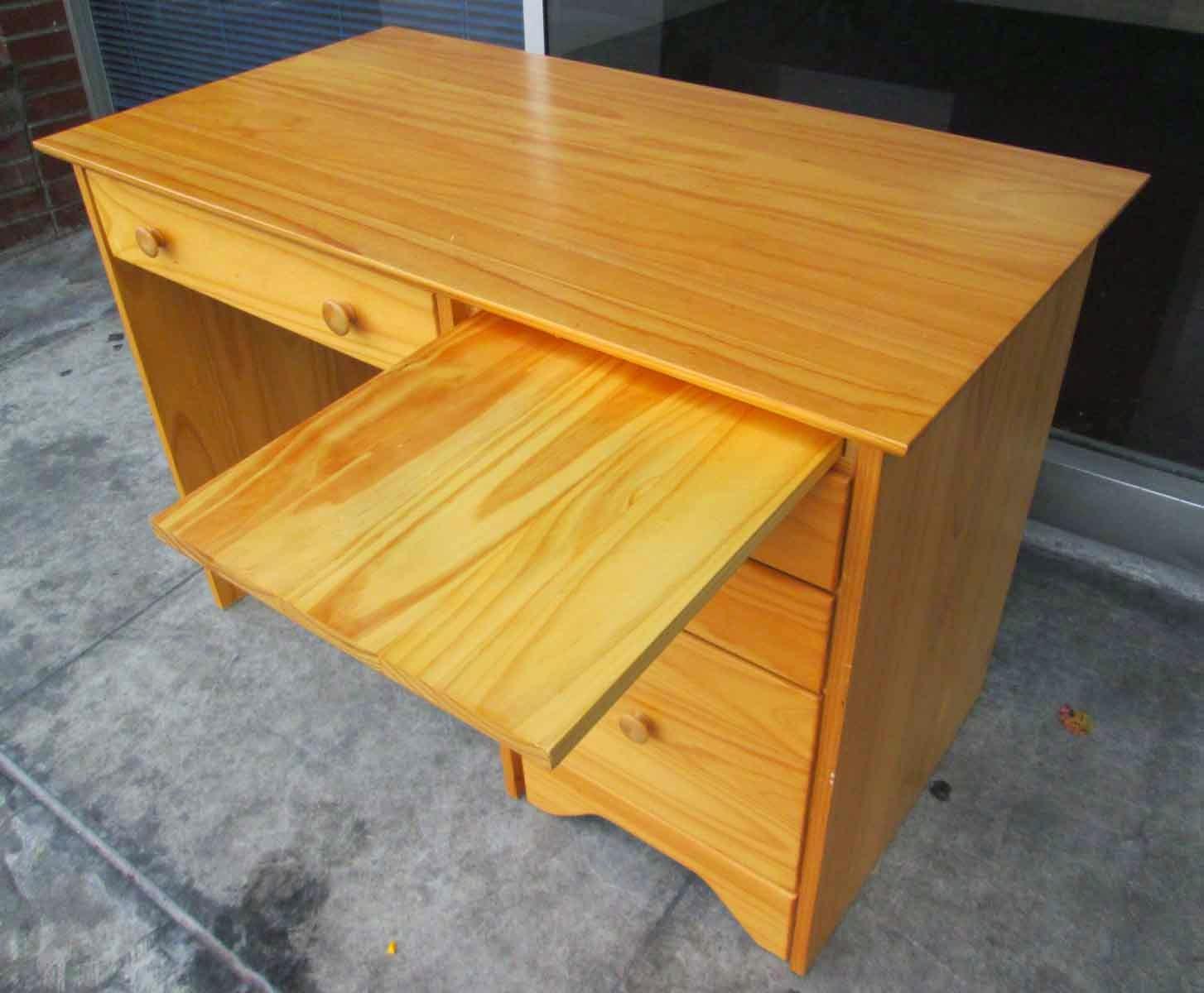 Uhuru Furniture Collectibles Sold Knotty Pine Desk 60