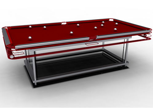 Sin salir de tu casa mesas de billar de cristal - Medidas mesa billar profesional ...
