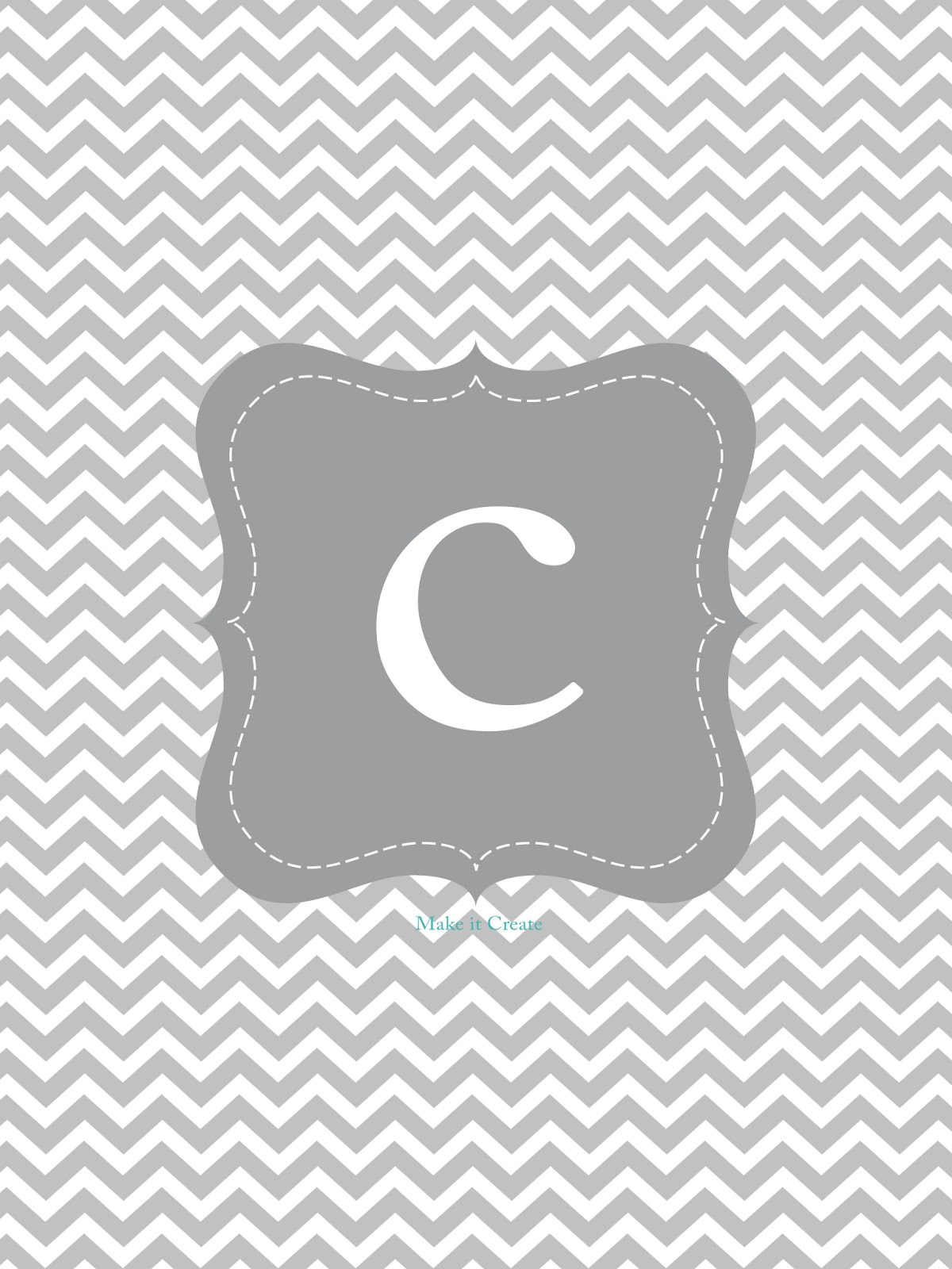 Chevron Background With Initials C Download