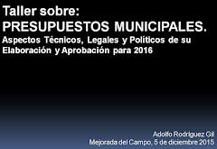 Presentación sobre Presupuestos Municipales