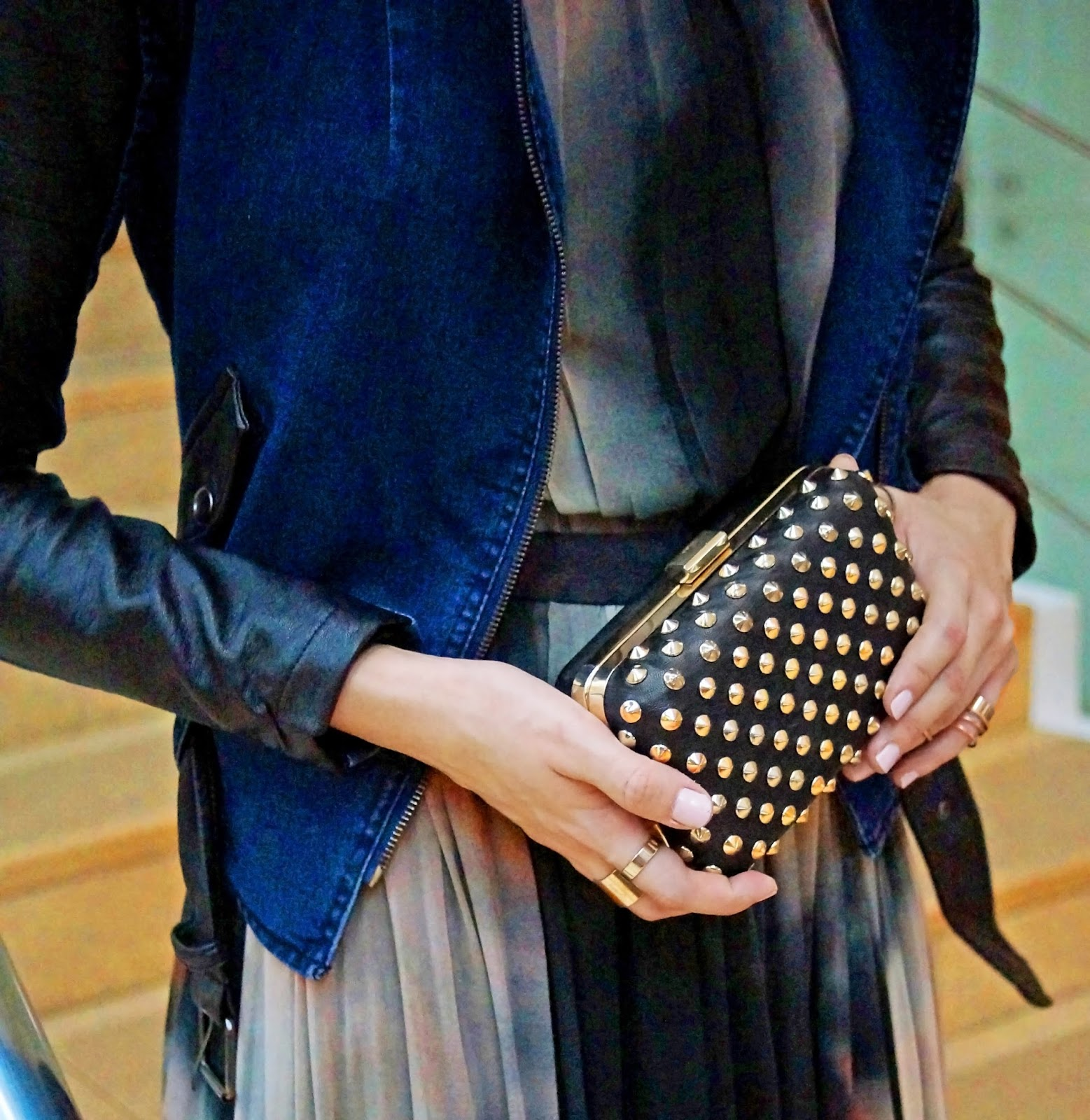 Studded clutch from Forever21