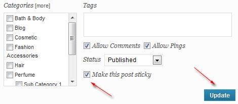 edit sticky post