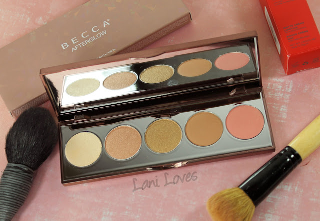 Becca Afterglow palette swatches & review