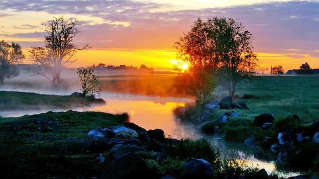paisaje al amanecer