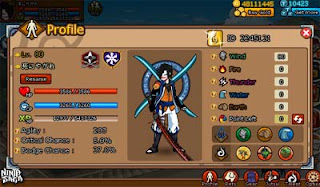 Sell Char Ninja Saga Clan Reward Full All Item