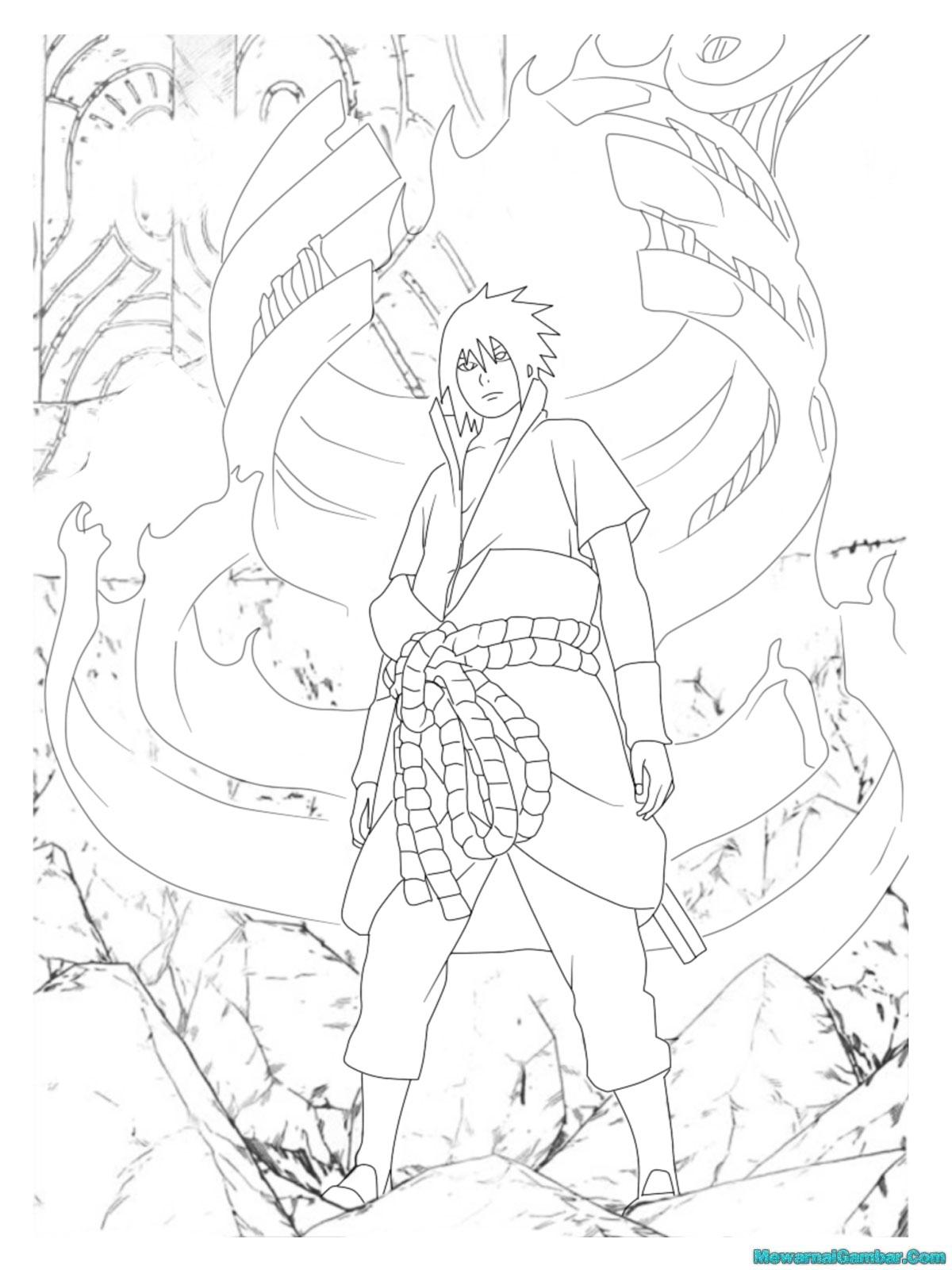 Mewarnai Gambar Sasuke Mewarnai