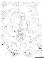 Mewarnai Gambar Jurus Amaterasu Sasuke