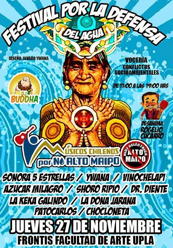 QUINTA REGION, VALPARAISO: FESTIVAL POR LA DEFENSA DEL AGUA