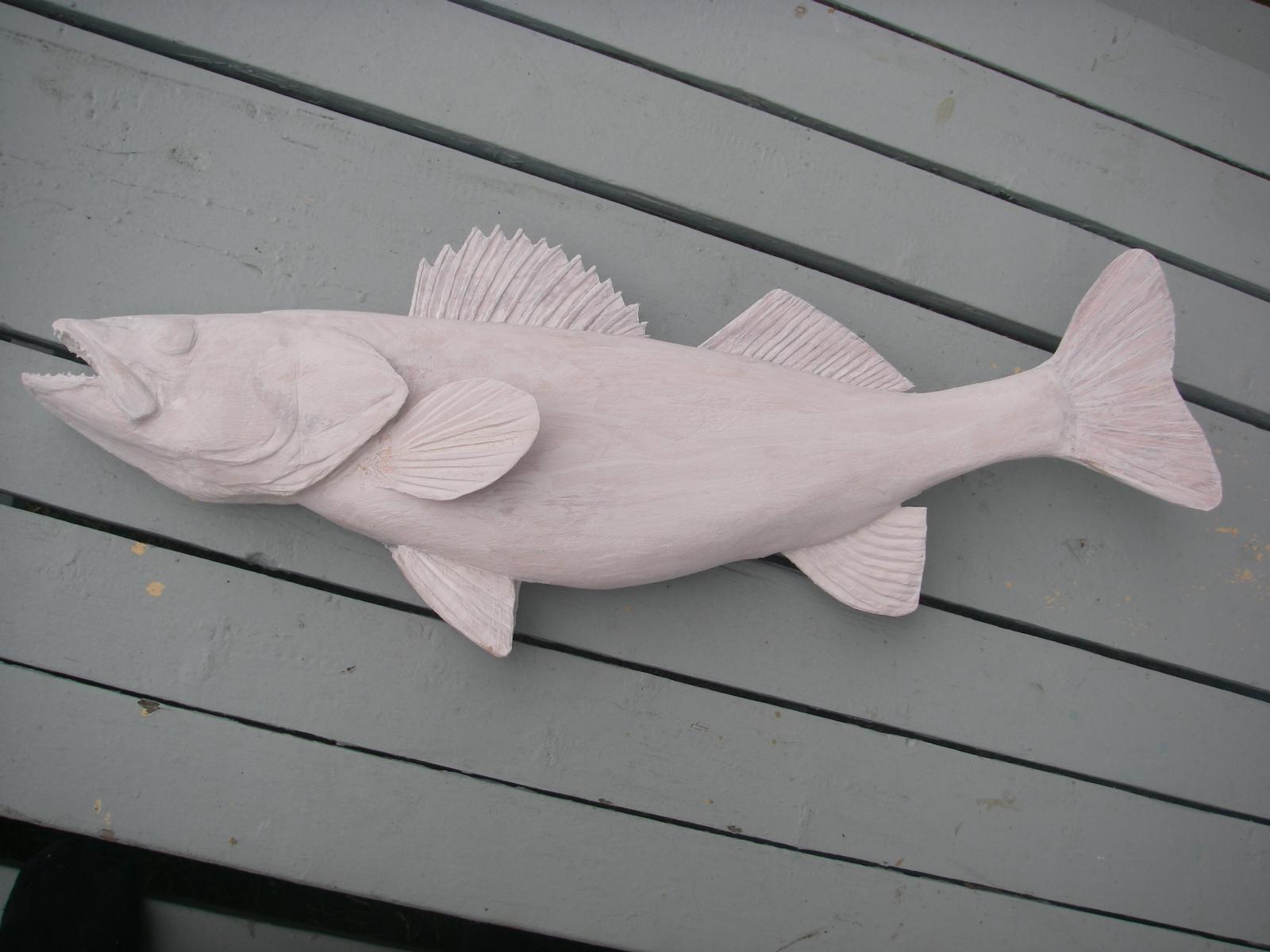 Charles weiss art big wood walleye