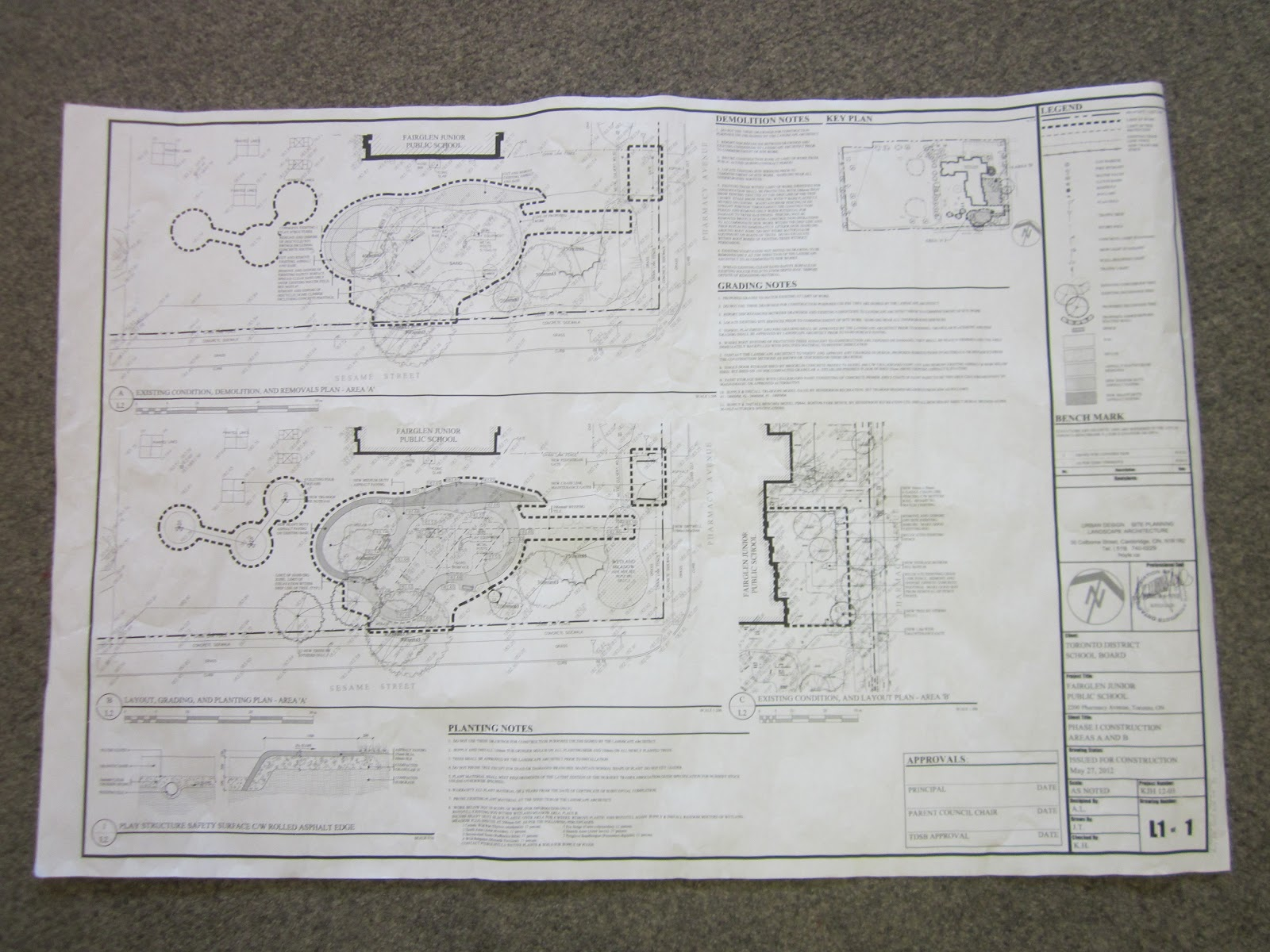 Wonders of learning the building inquiry bob unrolled the blueprint to share with the students seeing a real blueprint was so exciting and became the provocation for a new inquiry malvernweather Image collections