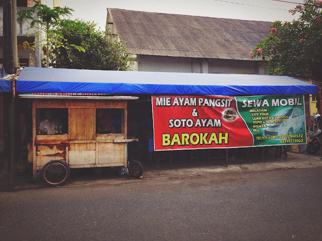 Street Food stall at Yogyakarta Jalan Cendrawasih