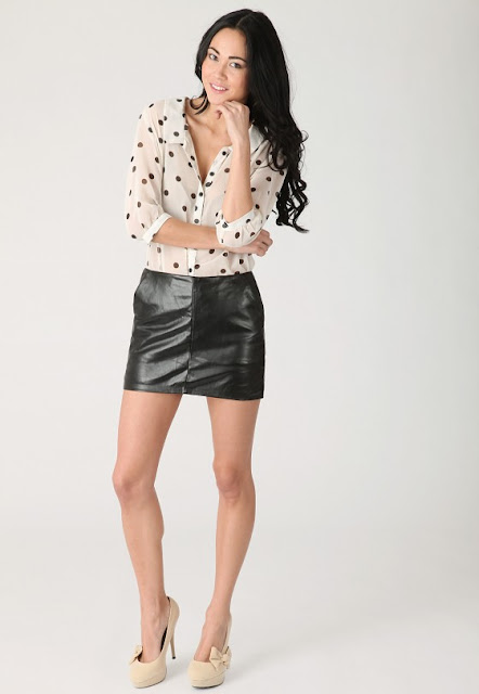 Lastest Sexy Mini Skirt - Vegan Leather Mini Skirt - Black Skirt