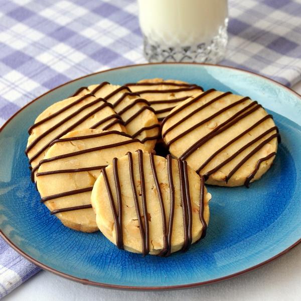 Hazelnut Chocolate Shortbread Cookies