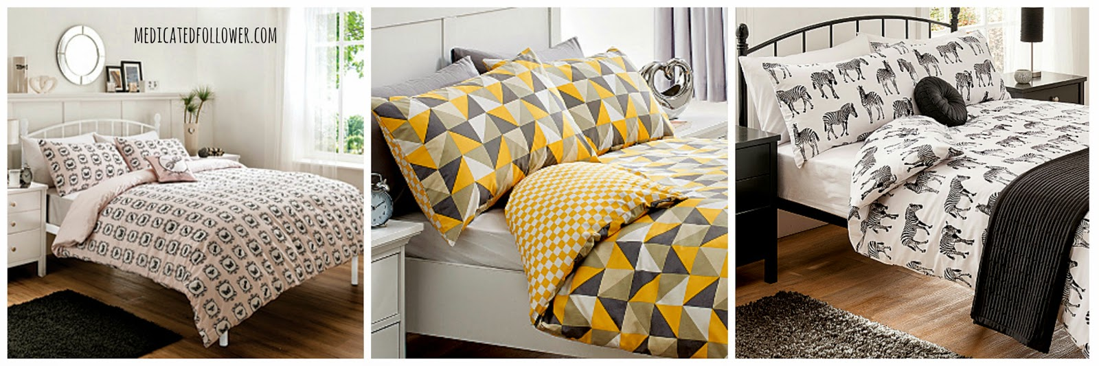 Duvet covers from George at Asda, Geo, Monochrome, Medicated Follower of Fashion