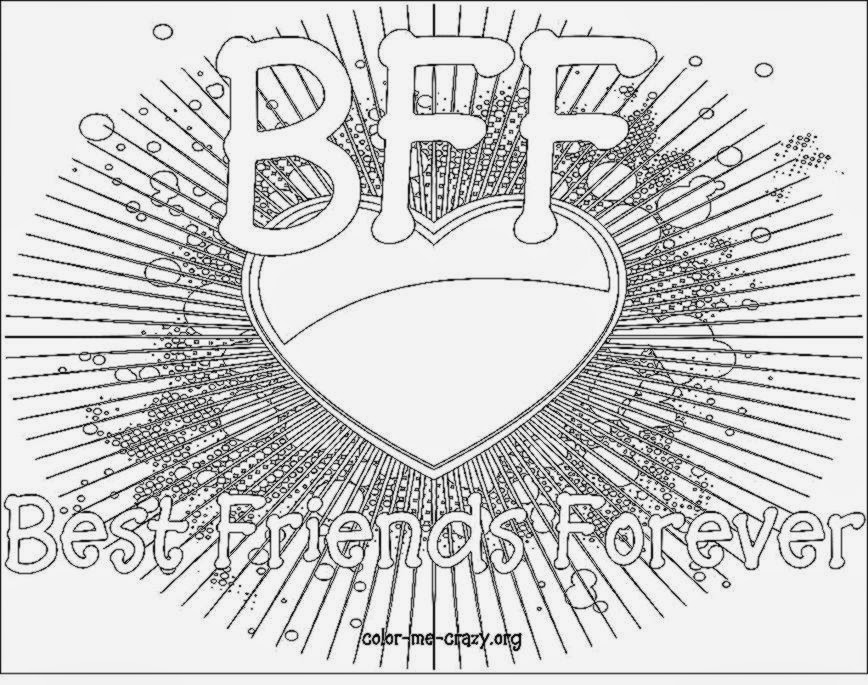 the word bff coloring pages - photo#19