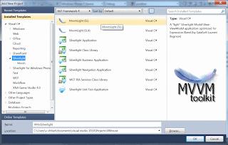 Adding an MVVM Light Silverlight 3 Project