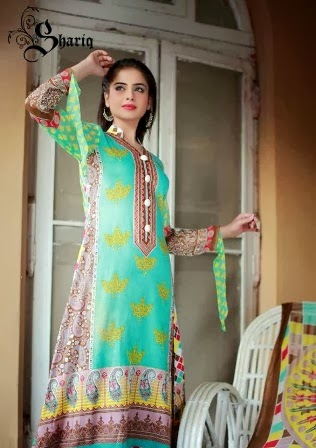 Latest Designs Printed Lawn Dresses 2014