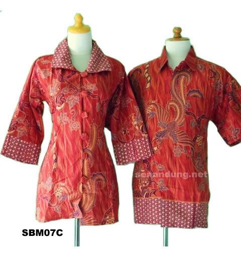 blus batik sarimbit modern