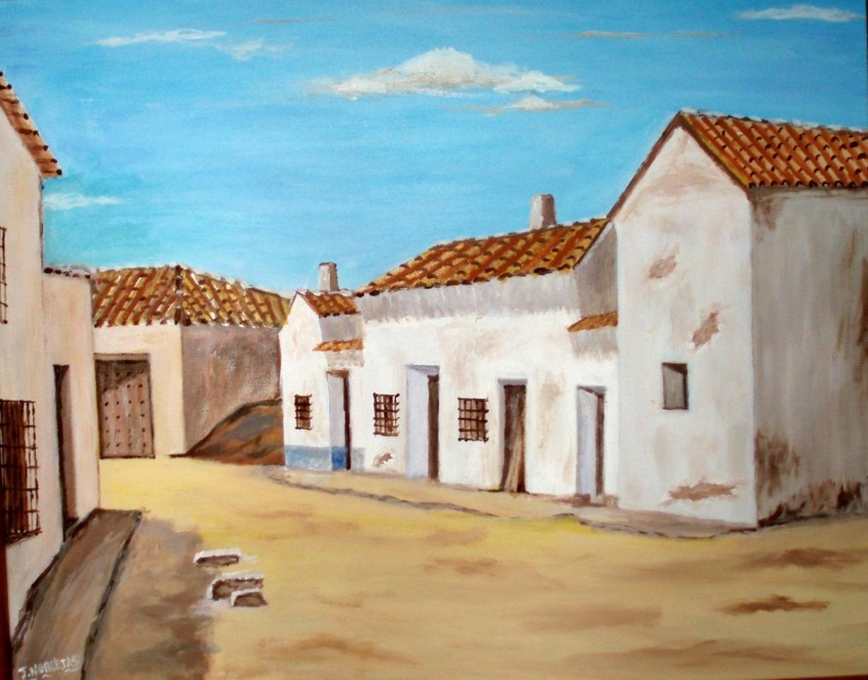 El arte de merj s - Casas viejas al oleo ...