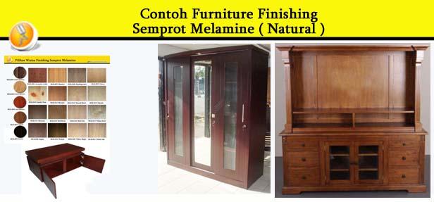 Contoh Furniture finishing Semprot Melamine ( Natural )