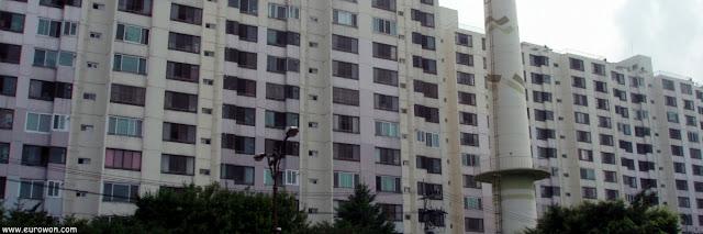 Bloque de apartamentos en Corea del Sur