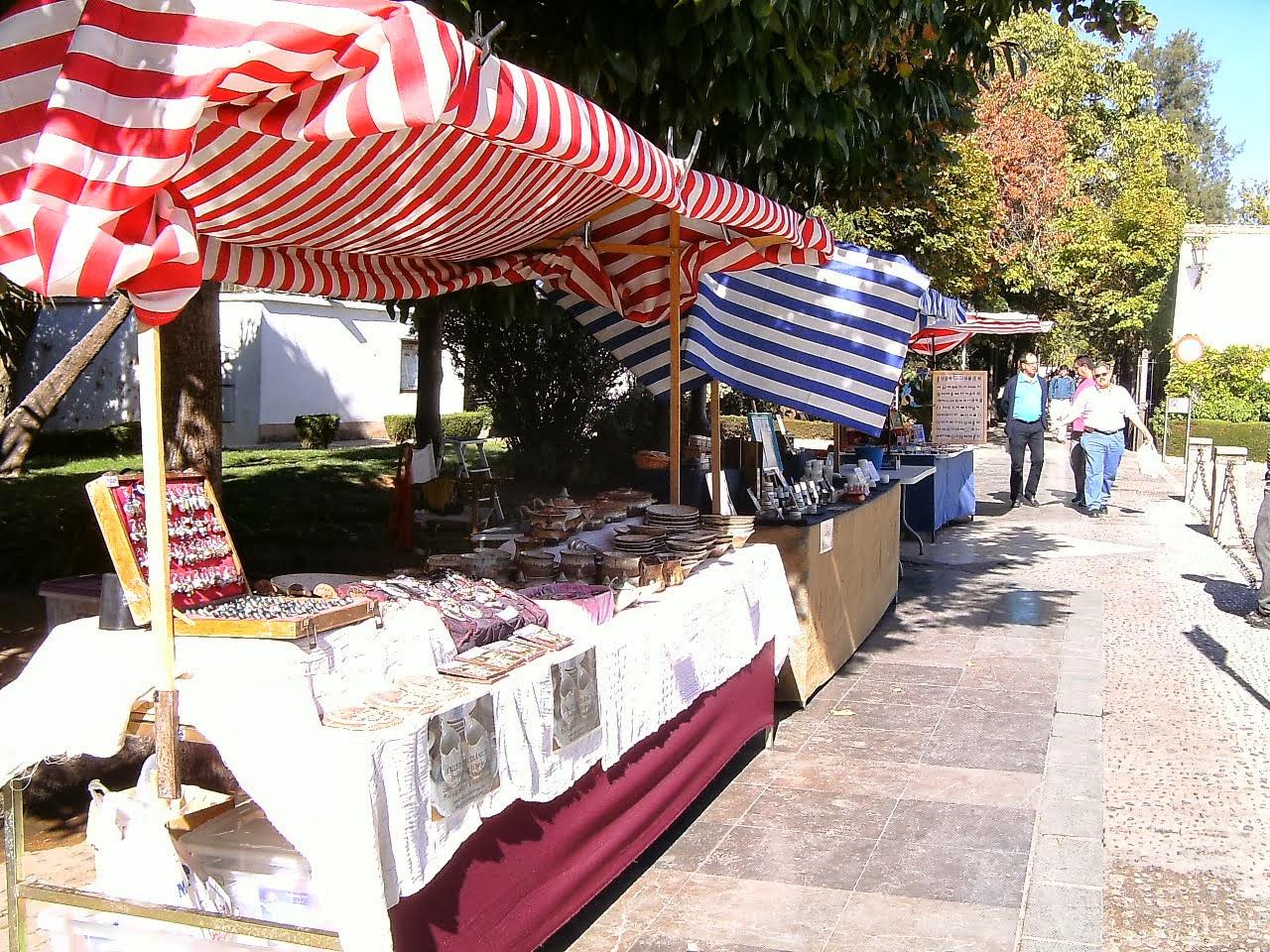 El mercado de artesanía de Ronda