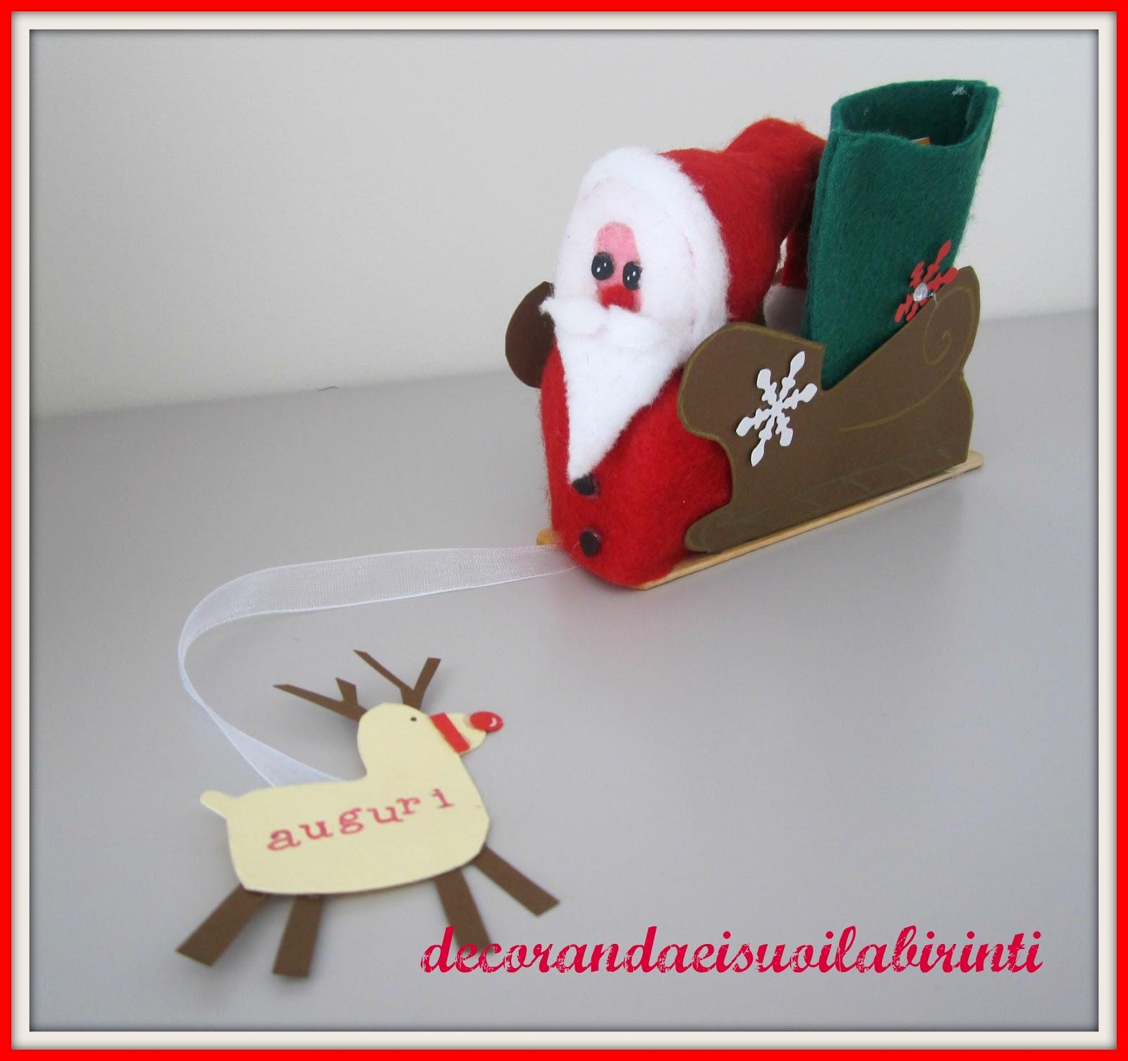 Babbo Natale Lavoretti.Decorandaeisuoilabirinti Lavoretto Di Natale