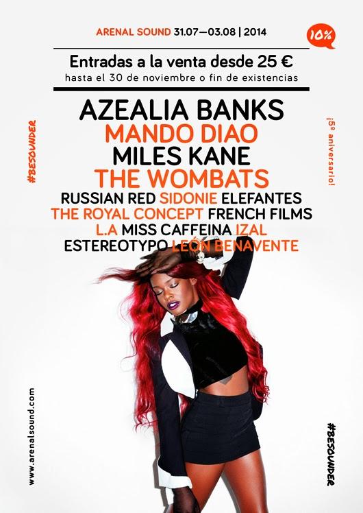 Arenal Sound, 2014, cartel, festival, concierto, directo