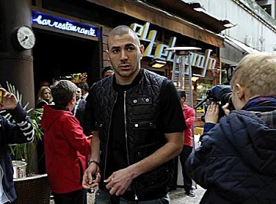 Karim Benzema at holidays
