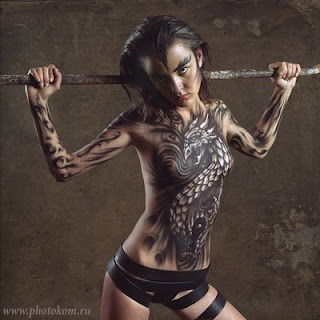 Angola Body Art Painting
