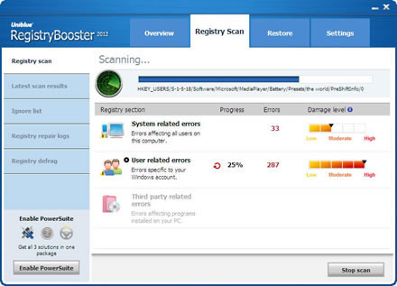 uniblue registry booster 2012 free  with crack