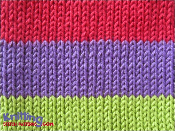Color Knitting Patterns : Three Color Stocking Stitch Knitting Stitch Patterns