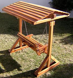 Multinotas sillones columpio de madera terrazas - Columpio de madera para jardin ...