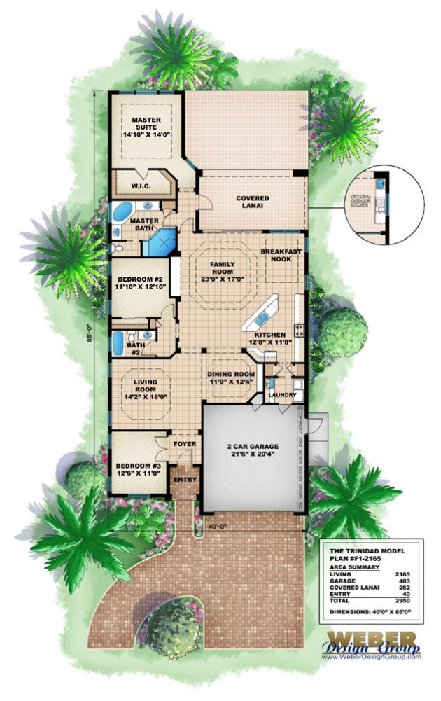 House plans home plans of 2011 narrow beach house plans for Narrow lot house plans